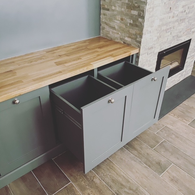 bespoke drawers oak